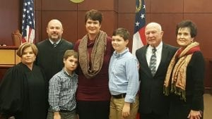 B. Alison Sosebee is a lifelong resident of Fannin County and she is the mother of two sons, Nathaniel and Grahym Maloof. She is the daughter of Robert L. Sosebee, Sr., the general manager of Tri-State Electric Cooperative for several years and Barbara Payne Sosebee.